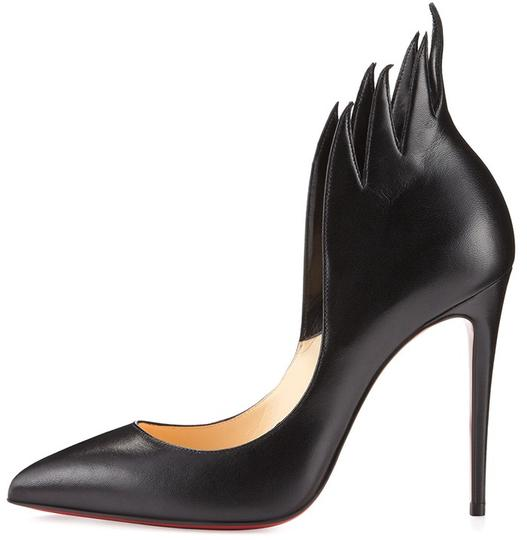 Christian Louboutin Victorina Flame Stiletto Leather black Pumps Image 3