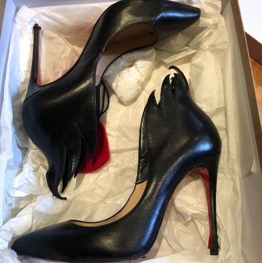 Christian Louboutin Victorina Flame Stiletto Leather black Pumps Image 4