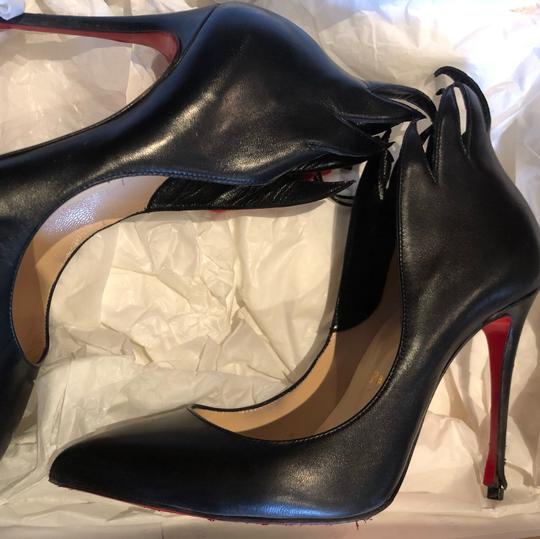 Christian Louboutin Victorina Flame Stiletto Leather black Pumps Image 7
