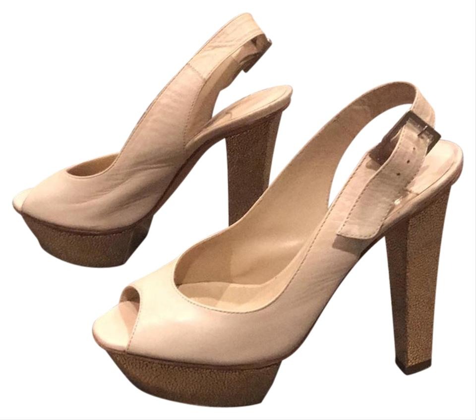 Jimmy Choo Know Ivory and Gold Dont Know Choo Pumps bb8a5a