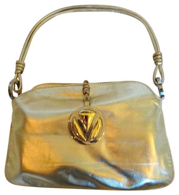 Valentino Small Gold Metallic Leather Shoulder Bag Valentino Small Gold Metallic Leather Shoulder Bag Image 1