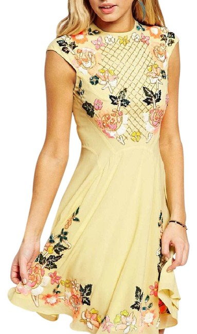 Preload https://img-static.tradesy.com/item/21914504/needle-and-thread-yellow-mid-length-cocktail-dress-size-8-m-0-1-650-650.jpg