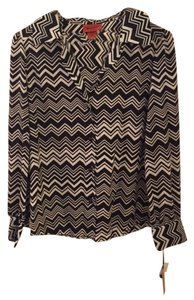 Missoni for Target Rare Button Down Shirt Black and white chevron