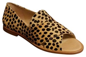 Loeffler Randall Gold with Black Dots Flats