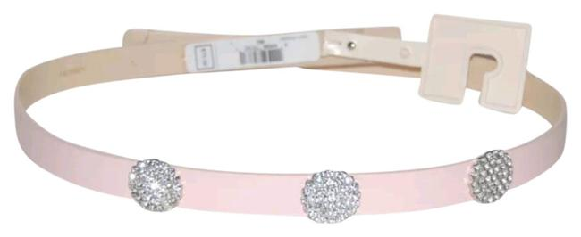 Kate Spade Light Pink L Studded Jeweled Genuine Leather Waist Size Belt Kate Spade Light Pink L Studded Jeweled Genuine Leather Waist Size Belt Image 1