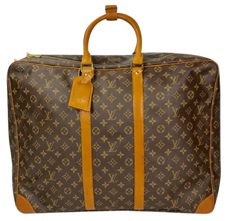 Louis Vuitton Sirius Monogram  sirius 50  Suitcase Brown Leather ... 1ebc22633d