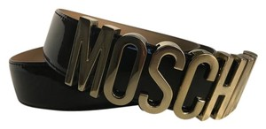 Moschino Moschino Lettered Logo Leather Belt Z46