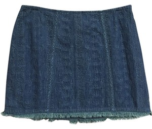 Free People Mini Mini Mini Skirt Denim