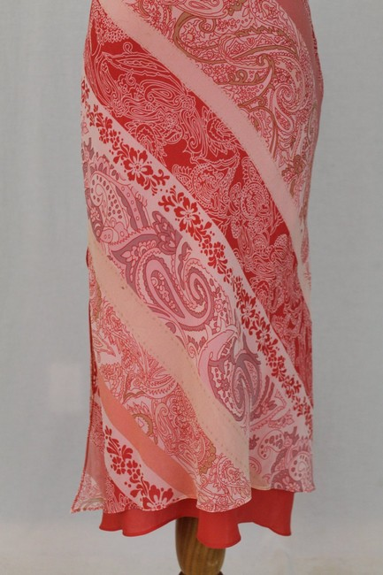 Express One Shoulder Draped Mid Calf Pure Silk Silk Dress Image 3