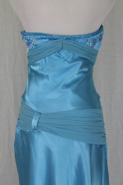 Dave & Johnny Prom Homecoming Strapless Beaded Silk Dress