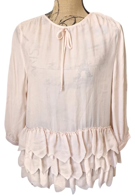 Preload https://img-static.tradesy.com/item/21915588/the-great-pink-silk-peplum-ruffled-blouse-size-0-xs-0-1-650-650.jpg