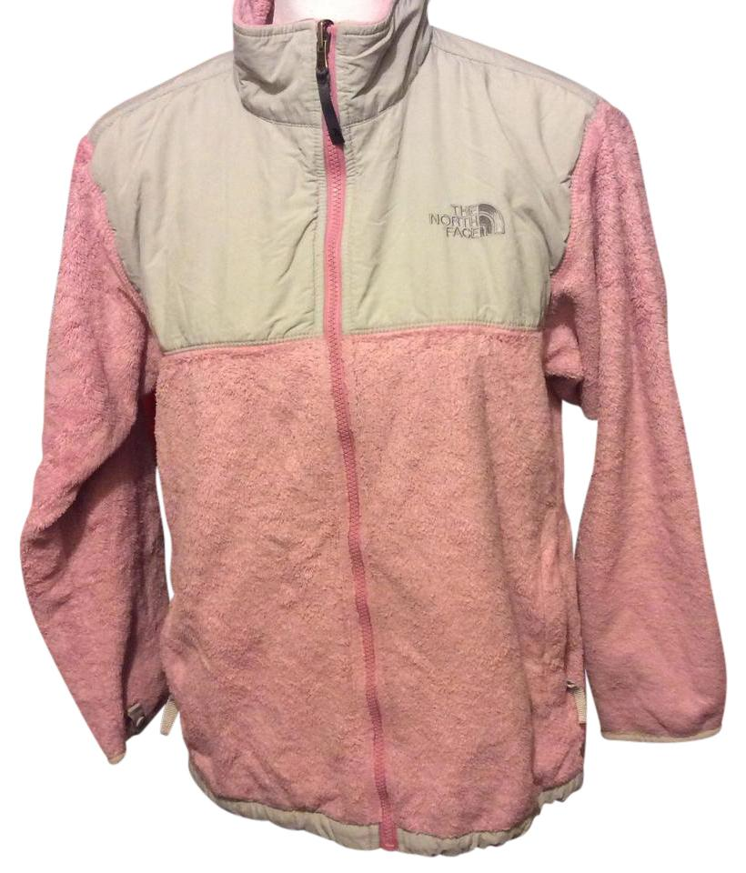 367804aeb21e5 The North Face Pink Fleece (Fuzzy) In with Grey Trim Jacket Size OS ...
