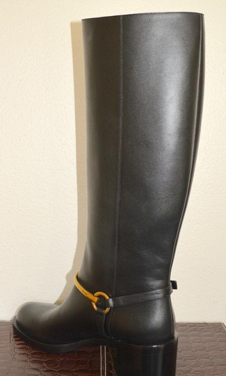 Gucci Leather Riding Black Boots