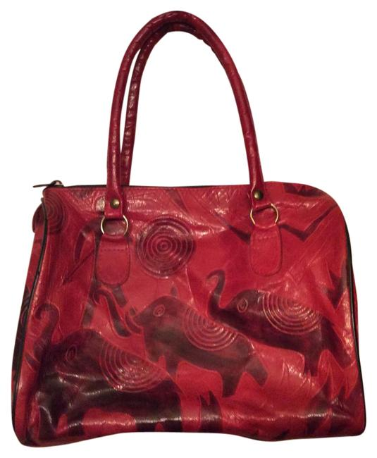 Red Leather Hobo Bag Red Leather Hobo Bag Image 1