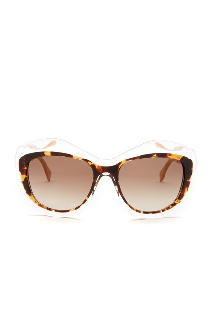 Fendi 07nq-ha Women's Color Block Oversize Cat Eye Sunglasses Fendi 07nq-ha Women's Color Block Oversize Cat Eye Sunglasses Image 1