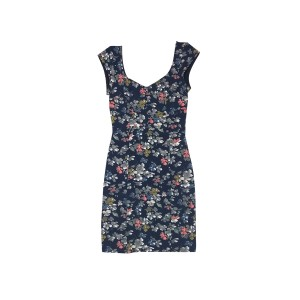 French Connection short dress Navy Floral on Tradesy