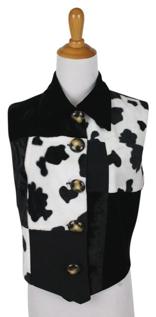 Preload https://img-static.tradesy.com/item/21915851/black-and-white-vintage-mixed-media-cow-print-cowgirl-and-vest-size-4-s-0-1-650-650.jpg
