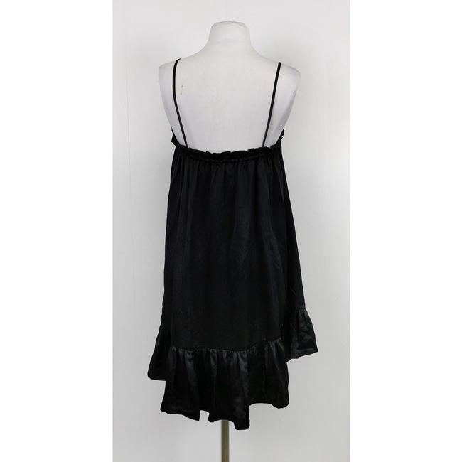 Otte short dress Black Silk Ruched on Tradesy