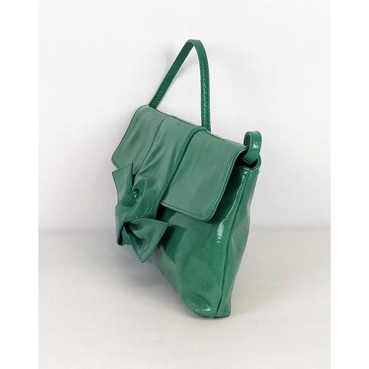 Furla Patent Leather Green Clutch