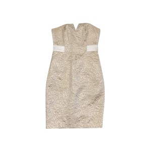 Halston short dress Gold Brocade on Tradesy