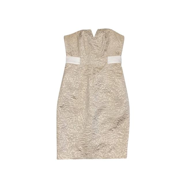 Preload https://img-static.tradesy.com/item/21915919/halston-gold-brocade-short-casual-dress-size-2-xs-0-0-650-650.jpg
