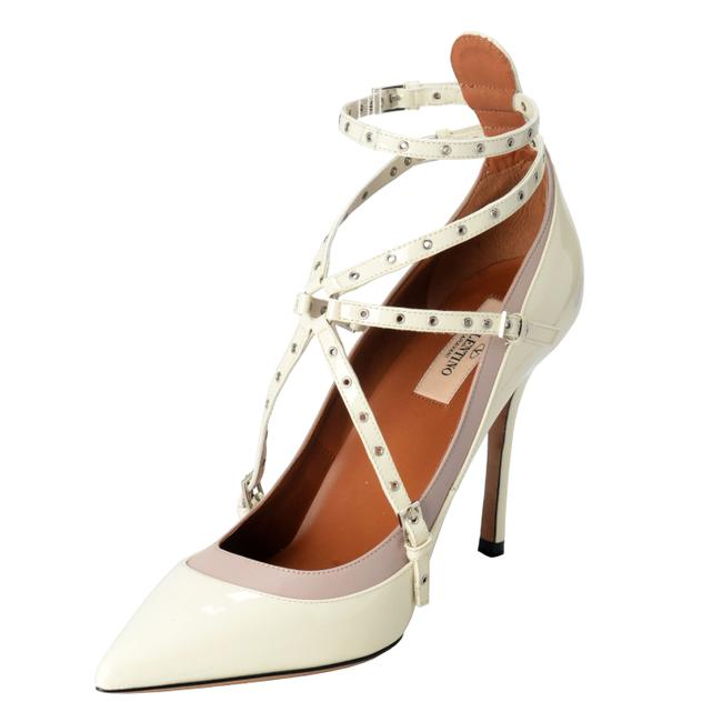 Item - White Women's Leather Ankle Strap Pumps Size US 7 Regular (M, B)