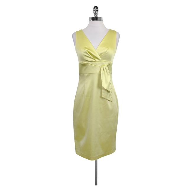 Preload https://img-static.tradesy.com/item/21916063/kay-unger-green-lime-satin-short-casual-dress-size-4-s-0-0-650-650.jpg