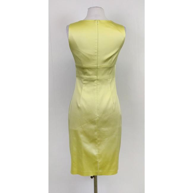 Kay Unger short dress Green Lime Satin on Tradesy