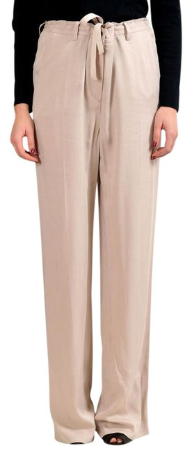 "Item - Cream Beige ""4"" Women's Flat Front Pants Size 6 (S, 28)"