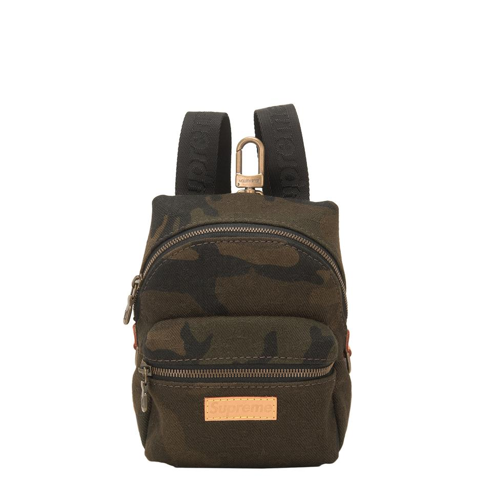 louis vuitton x supreme apollo green canvas backpack tradesy. Black Bedroom Furniture Sets. Home Design Ideas