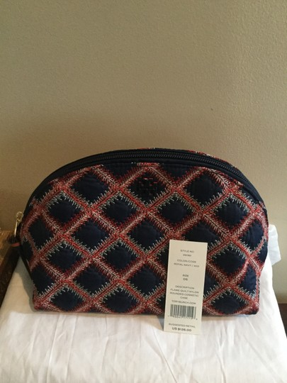 Tory Burch Flame-quilt Nylon Cosmetic Bag