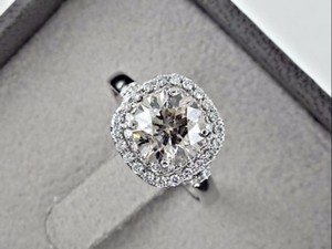 14k White Gold 2.67 Ct Round Diamond 14 K Engagement Ring