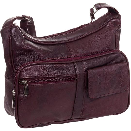 Preload https://img-static.tradesy.com/item/21916469/women-s-multi-pocket-shoulder-burgundy-leather-cross-body-bag-0-3-540-540.jpg