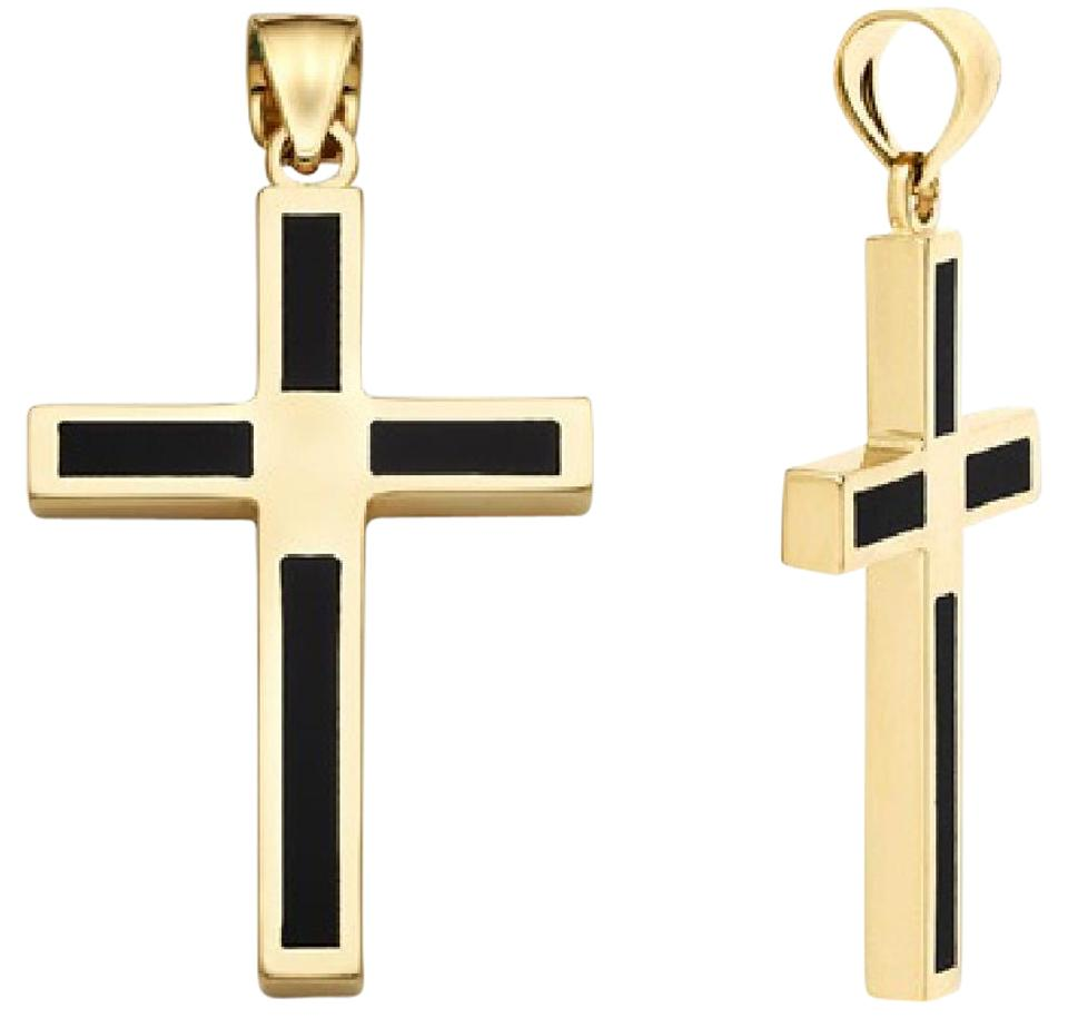 Apples of gold 14k onyx cross pendant necklace tradesy apples of gold 14k gold onyx cross pendant aloadofball Images