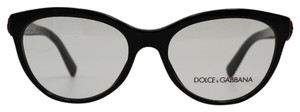 Dolce&Gabbana Cateye Black With Rose Accent Designs Eyeglasses 3224 501