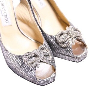 Jimmy Choo Limited Edition Silver Pumps