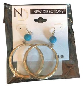 New Directions Gold hoop earrings