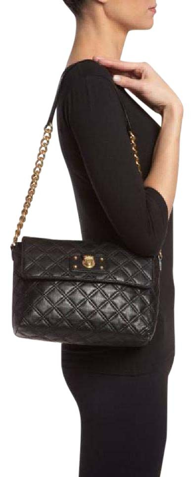 fd7131bb2c94 Marc Jacobs Large Quilting Single Black Lambskin Leather Shoulder Bag
