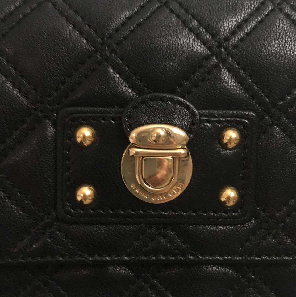 03a86d26514f Marc Jacobs Large Quilting Single Black Lambskin Leather Shoulder ...