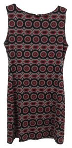 Tracy Negoshian short dress Black, Gray, Red Cutout Geometric on Tradesy