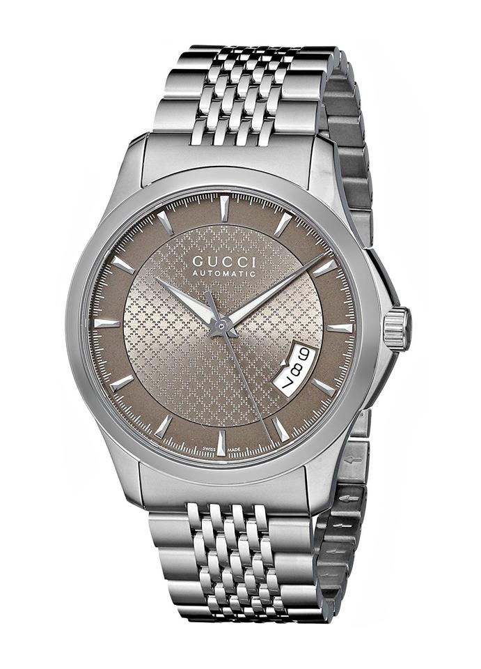 13659504350 Gucci G-Timeless Brown Dial Stainless Steel Automatic Men s Watch Image 0