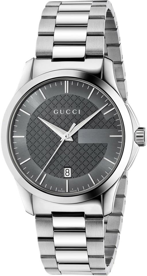 d6adea30f65 Gucci G-timeless Grey Dial Stainless Steel Unisex Watch - Tradesy