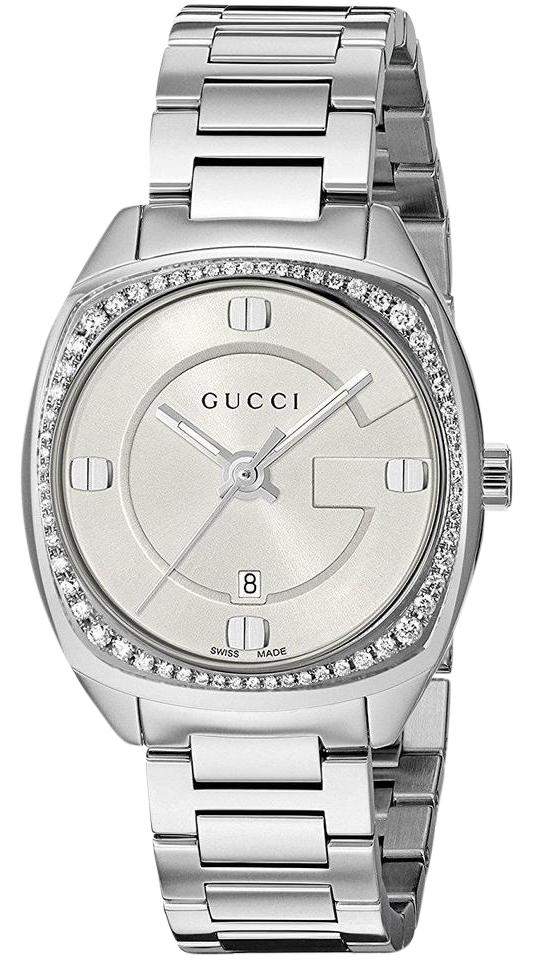 97edfc766d2 Gucci Gg2570 White Dial Stainless Steel Diamond Ladies Watch - Tradesy