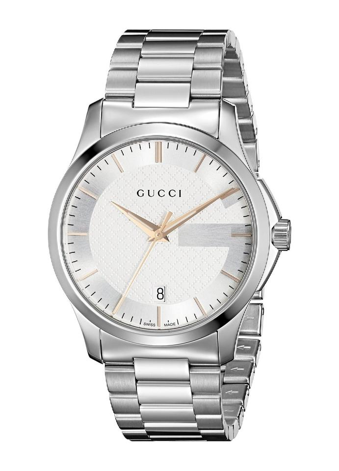 0fc9c9db8da Gucci G-timeless Silver Dial Stainless Steel Unisex Watch - Tradesy