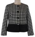 Talbots Houndstooth 41%wool 45% Polyester 14% Acrylic Jacket Size Petite 6 (S) Talbots Houndstooth 41%wool 45% Polyester 14% Acrylic Jacket Size Petite 6 (S) Image 1