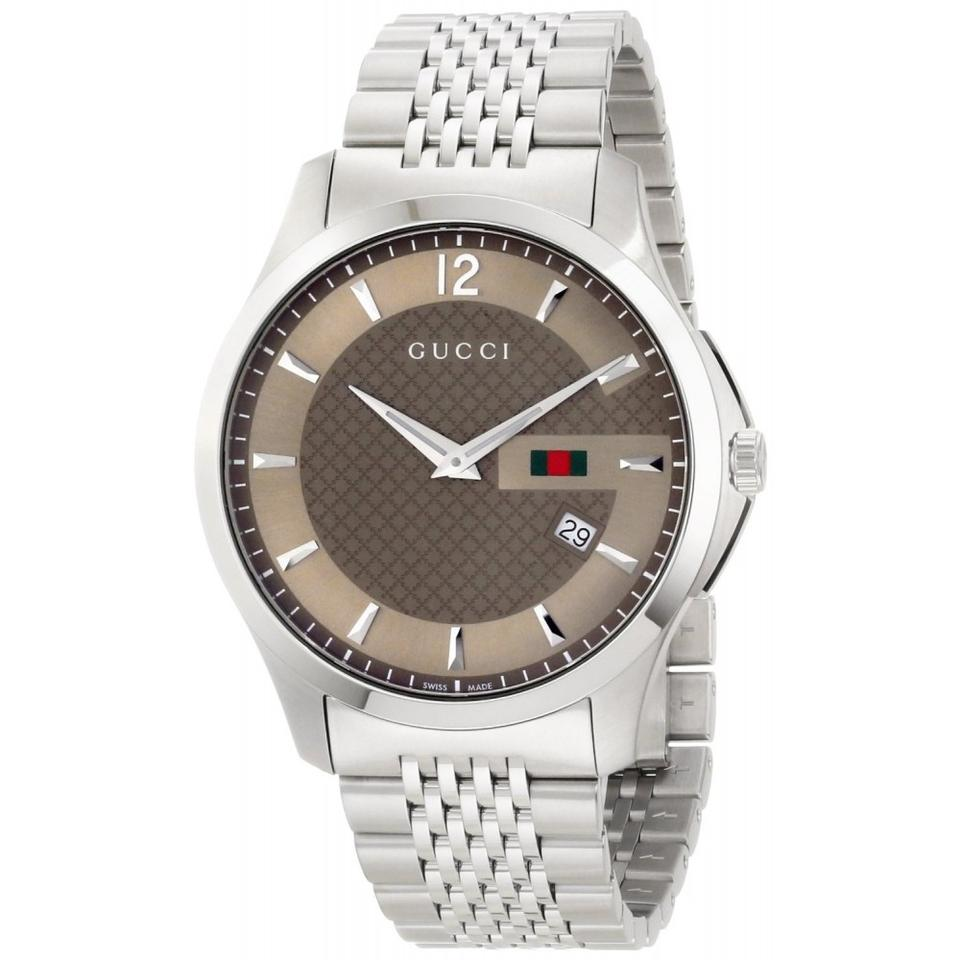 5e67f86d8ef Gucci G-timeless Brown Dial Stainless Steel Men s Watch - Tradesy