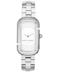 Marc Jacobs The Jacobs White Dial Ladies Stainless Steel Watch