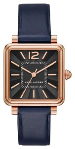 Marc Jacobs Vic Black Dial Ladies Leather Watch