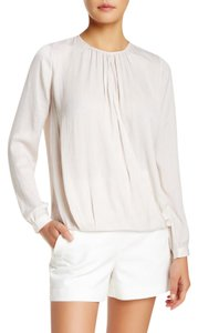 Vince Crossover Silk Top Ivory