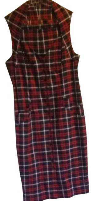 Item - Blue & Red Plaid Mid-length Short Casual Dress Size 10 (M)